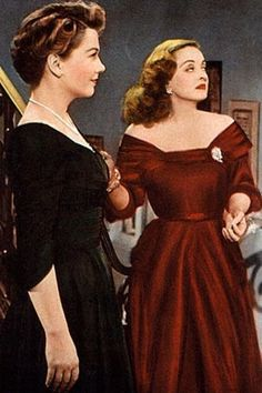 Bette Davis and Anne Baxter, All About Eve (1950)