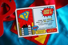 Super hero party. Let's just say I am having party envy! I had a super hero party but it didn't look anything like this one! ;)