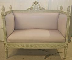 gustavian swedish trundle bench