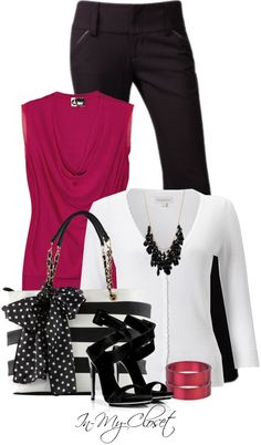 """""""Chiffon and Stripes"""" by in-my-closet on Polyvore"""