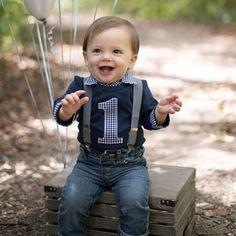 First Birthday Shirt Baby Boy Cake Smash Onesie For