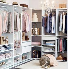 Use of corner Wardrobe Furniture, Bedroom Wardrobe, House Furniture Design, Interior Design Living Room, Organizar Closet, Master Bedroom Closet, Glam Room, Dream Closets, Closet Designs