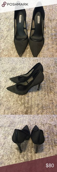 Guess? Pumps Black Mesh pumps. Comfortable, breathable, and stretchy material. Size is 6.5 and runs a little big. Great with jeans, dresses and skirts! Guess Shoes Heels