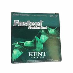 Kent Cartridge Fasteel Waterfowl Ammunition features high quality all weather primers and water resistant construction.
