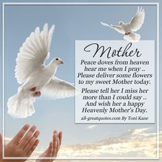 happy mother's day poems in heaven | Mother – Peace doves from heaven | Mothers Day In Heaven Card