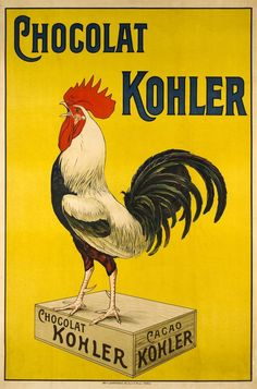 Add a warm pop of color to your kitchen when you hang the Global Gallery Chocolat Kohler Canvas Wall Art on your wall. This beautiful canvas features a vintage-inspired graphic inspired by the history of French advertising. Retro Poster, Poster Art, Poster Vintage, Pub Vintage, Vintage Labels, Graphics Vintage, Vintage Food, Vintage Market, Vintage Ephemera