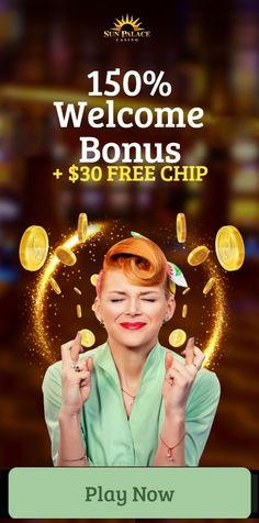 Sun Palace is offering new players a 150% welcome bonus & a $30 free chip! Register a new player account from our link or banner - Redeem the no deposit bonus code in the cashier - Play fun online casino games Sun Palace. You can find the welcome bonus code in the casino's cashier and claim it before making your deposit. Please read ALL the T's and C's of the no deposit bonus and deposit bonus before redeeming. Sun Palace is an RTG online casino that accepts players from the USA. Online Casino Games, Best Online Casino, Online Casino Bonus, Best Casino, Free Slot Games, Free Slots, Money Games, News Online, Free Money