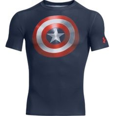 Under Armour Men's Alter Ego Captain America Shield Compression Shirt - Dick's Sporting Goods