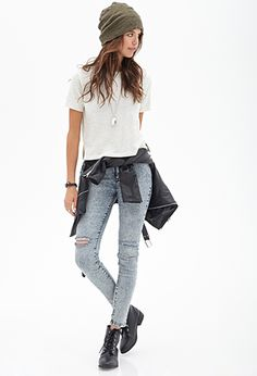 Heathered Knit Tee | FOREVER21 - 2000102604