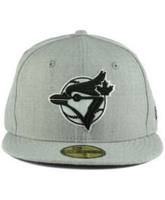 New Era Toronto Blue Jays Heather Black White 59FIFTY Cap - Gray 8