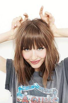 Medium Haircut with Blunt Bangs - Medium Length Hairstyles 2015 by Eduardo Borges