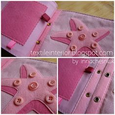 Colour page PINK-  I like the buttons for texture on the sea star!