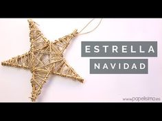 Cómo hacer estrellas para árbol de Navidad (manualidades) - PAPELISIMO