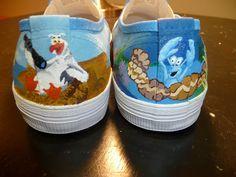 Custom Hand Painted Shoes  Little Mermaid by RyTee on Etsy, $150.00