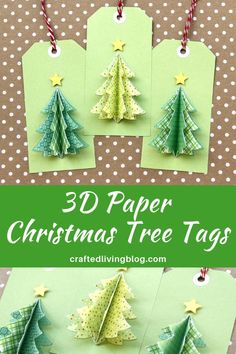 Celebrate Christmas by making these simple DIY tree tags using your favorite paper. Fun idea to add to your holiday gifts or treats to make them extra special. Paper Christmas Decorations, Christmas Paper Crafts, Handmade Christmas Gifts, Christmas Gift Wrapping, Holiday Crafts, Diy Christmas Tags, Christmas Gifts To Make, Christmas Projects, Christmas Ideas