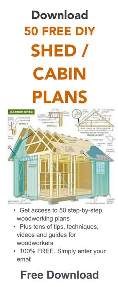 It& free. Just enter your email address and get immediate access. Shed plans for women. Shed Cabin, Diy Cabin, Tiny House Cabin, D House, Cabin Plans, Woodworking Projects Diy, Wood Projects, Woodworking Plans, Popular Woodworking
