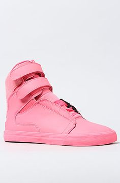 The Society Sneaker in Pink Leather and Glitter by SUPRA
