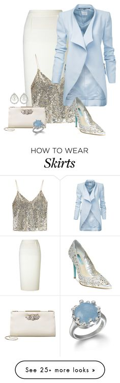 """Untitled #2475"" by anfernee-131 on Polyvore featuring Roland Mouret, Alice + Olivia, Betsey Johnson, Badgley Mischka and Nigaam"