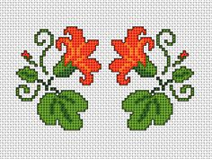 Floral Motif x2 free cross stitch pattern
