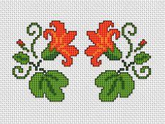 Floral Motif x2 free cross stitch pattern