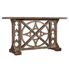 Perfect for displaying a bouquet of fresh blooms or cherished family photos, this lovely console table features an openwork base and a stone-inspired finish....