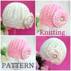 Knitting PATTERN Baby Beanie Knit Pattern Baby Hat Baby Girl Cap Knitted Girl…
