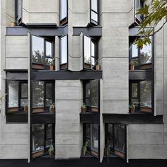 Image 22 of 24 from gallery of Brutal Variety / Ero Architects. Courtesy of Ero Architects Modern Architecture Design, Commercial Architecture, Facade Design, Facade Architecture, Sustainable Architecture, Residential Architecture, Amazing Architecture, Building Facade, Building Design