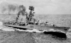 """HMS Agincourt: a Battle-class Destroyer built by Hawthorn Leslie & Co. Laid down on 12 December launched 29 January 1945 and commissioned 25 June Navy Times, Merchant Marine, Naval History, Navy Ships, Submarines, Aircraft Carrier, Historical Pictures, Royal Navy, Battleship"