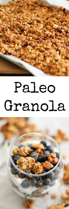 Paleo Granola - grain-free, made with nuts and seeds. Naturally sweetened and protein-packed #healthy #recipe #breakfast #paleo