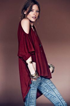 Boho Chic Outfits in Free People 'Sacred Geometry' Lookbook