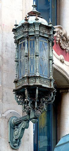 Can Jorba 1926 Architect: Arnald Calvet i Peyronill Chandeliers, Chandelier Lighting, Art Nouveau, Modernisme, Lantern Lamp, Street Lamp, Gaudi, Architectural Elements, Beautiful Buildings
