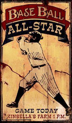 Baseball Decor Wood Sign