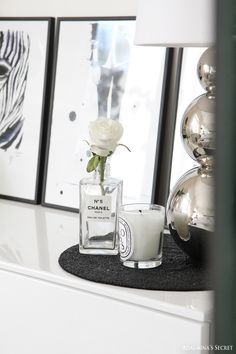 Girly home with black, white and red - Adalmina's Secret - Divaaniblogit
