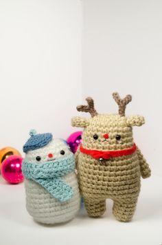Free crochet patterns! Cuddly snowman and amigurumi reindeer - picotpals.com