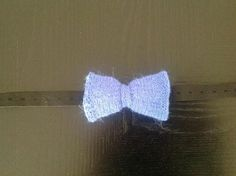 Bow tie knitted with Icelandic wool by HallaBen on Etsy