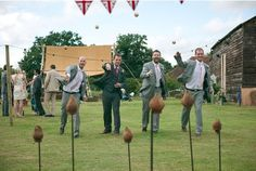 Summer Wedding with a Village Fete theme.