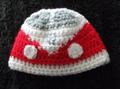 vw campervan beanie hat for newborn baby by yasasii123 on Etsy