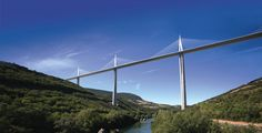 Millau Viaduct. Designed by the French structural engineer Michel Virlogeux and British architect Norman Foster, it is the tallest bridge in the world with one mast's summit at 343.0 metres (1,125 ft) above the base of the structure.