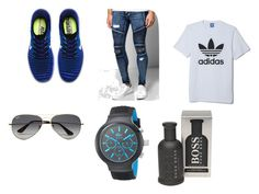 """Casual"" by majstor1995 ❤ liked on Polyvore featuring NIKE, BoohooMAN, adidas, Ray-Ban, Lacoste, HUGO, men's fashion and menswear"
