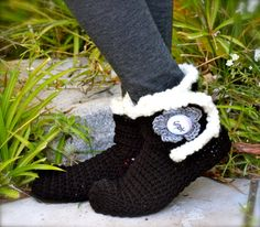 Chicago White Sox Slipper Socks by uniquelyyourscouture on Etsy