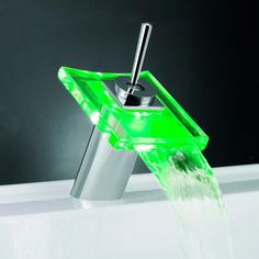 Have you ever burnt your hands with water, because you weren't sure whether it had the right temperature? Sure you have. Don't worry, LED technology will never let you scald yourself again.  http://fantastisch.co/temperaturesensitiveledfaucet