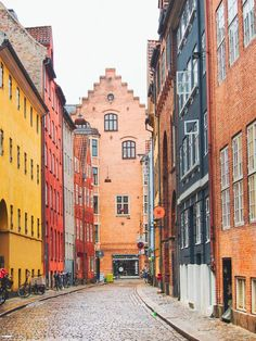 The alleyways of Copenhagen, Denmark.