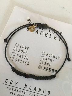 FATHER Morse Code Bracelet
