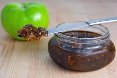 Green tomato and jalapeno jam.  Something to do with my bounty of peppers and unripe tomatoes in the garden!