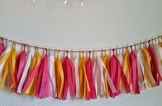 Extra Long Tissue Tassel Banner / Garland