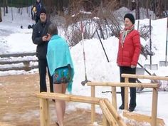 Bravo!!! Nikita is bathing in ice hole.