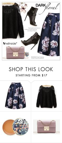 """In Bloom: Dark Florals"" by aurora-australis ❤ liked on Polyvore featuring WithChic, Paul & Joe, Yves Saint Laurent, Balenciaga, Sheinside and darkflorals"