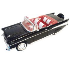 Vintage Diecast Car 1957 Black Chevy Belair Convertible 1 18 Scale by EraAntiquesandFinds on Etsy