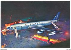 Cpsm Sabena, Boeing Intercontinental, Belgian World Airlines ( Camions Essence / Kérosène Shell ) - 1946-....: Ere Moderne