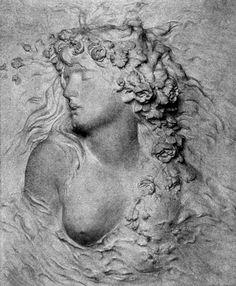 Le Prince Lointain: Sarah Bernhardt La Mort d'Ophélie - Pre Raphaelite Paintings, Prince, White City, Fashion Painting, Art For Art Sake, Sculpture, Gods And Goddesses, Les Oeuvres, Mythology